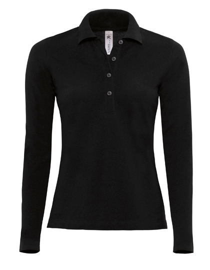 LSHOP Polo Safran Pure Longsleeve / Women Black,Brown,Navy,Red,Royal Blue,White