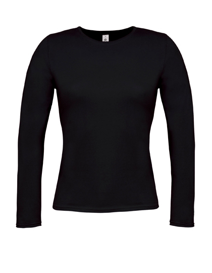 LSHOP T-Shirt Women-Only Longsleeve Black,Deep Red,Navy,Royal Blue,Sport Grey (Heather),White