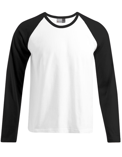 LSHOP Men«s Baseball-T Longsleeve White