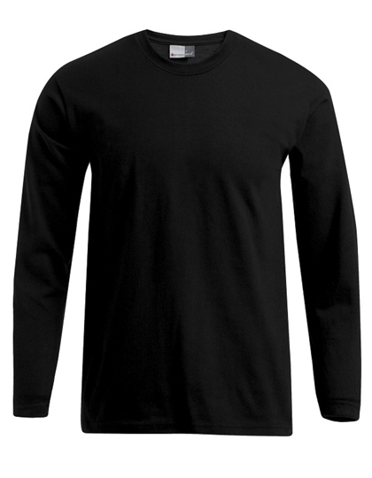 LSHOP Men«s Premium-T Longsleeve Black,Navy,Steel Grey (Solid),White