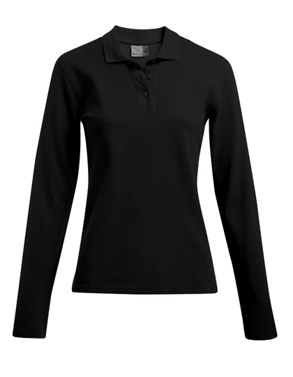 LSHOP Women«s Heavy Polo Longsleeve Black,Fire Red,Navy,White