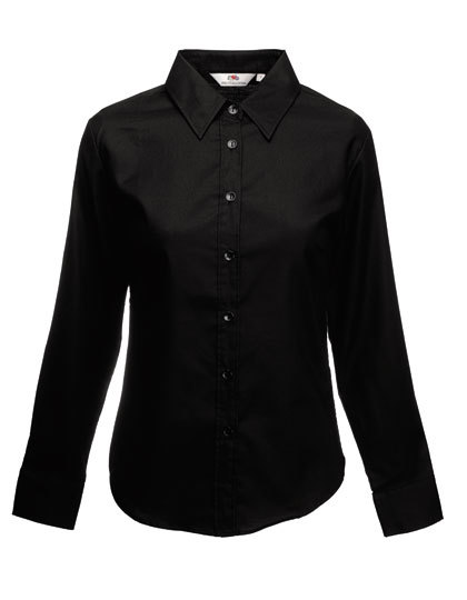 LSHOP Long Sleeve Oxford Shirt Lady-Fit Black,Navy,Oxford Blue,Oxford Grey,White