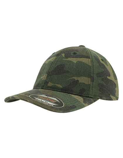 LSHOP Garmet Washed Camo Cap Green Camo