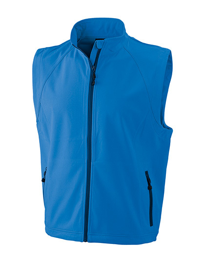 LSHOP Men`s Softshell Vest Azur,Black,Green,Navy,Off-White,Orange,Red