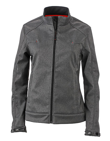 LSHOP Ladies` Softshell Jacket Dark-Melange,Light Melange