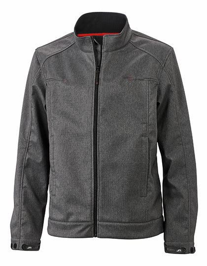 LSHOP Men`s Softshell Jacket Dark-Melange,Light Melange