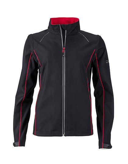 LSHOP Ladies` Zip-Off Softshell Jacket Black,Iron Grey,Nauticblue,Navy,Red