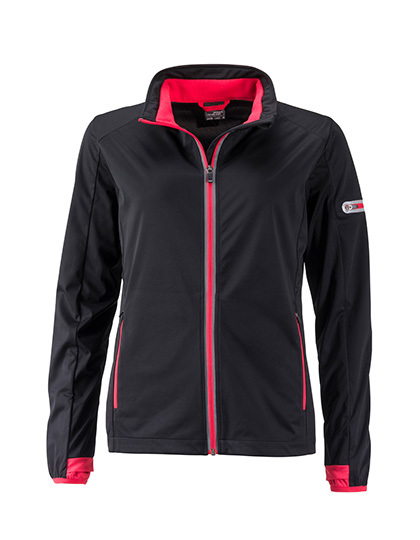 LSHOP Ladies` Sports Softshell Jacket Black,Bright Blue,Bright Green,Bright Orange,Bright Yellow,Light Red,Navy,Titan,White
