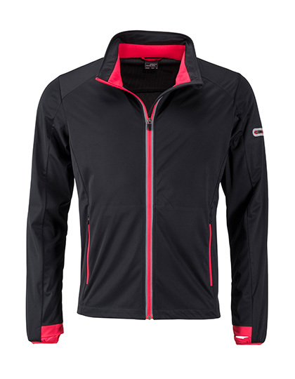 LSHOP Men`s Sports Softshell Jacket Black,Bright Blue,Bright Green,Bright Orange,Bright Yellow,Light Red,Navy,Titan,White