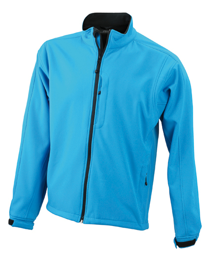 LSHOP Men«s Softshell Jacket Aqua,Black,Brown,Carbon,Navy,Off-White,Olive,Pop-Orange,Red