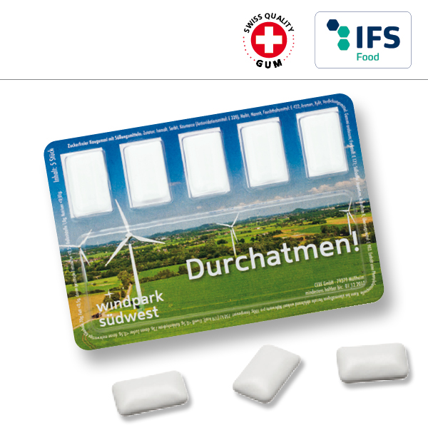 KALFANY Smart Card mit Kaugummi-Dragees